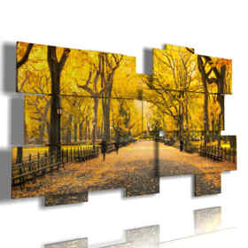 cuadro con imágenes de otoño