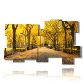 quadro con immagini di autunno