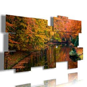 cuadro con la impresión del otoño