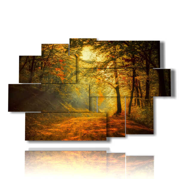 painting with images autumn winter