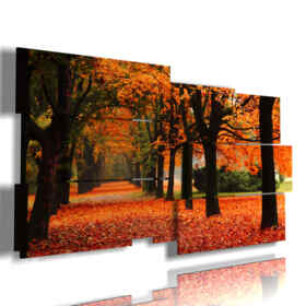 painting with image autumn tree
