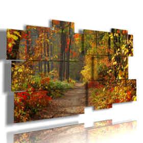 cuadros con la foto del otoño en las montañas