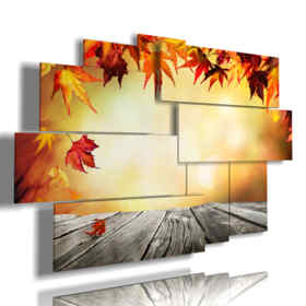 Les feuilles d'automne imprime tableaux et