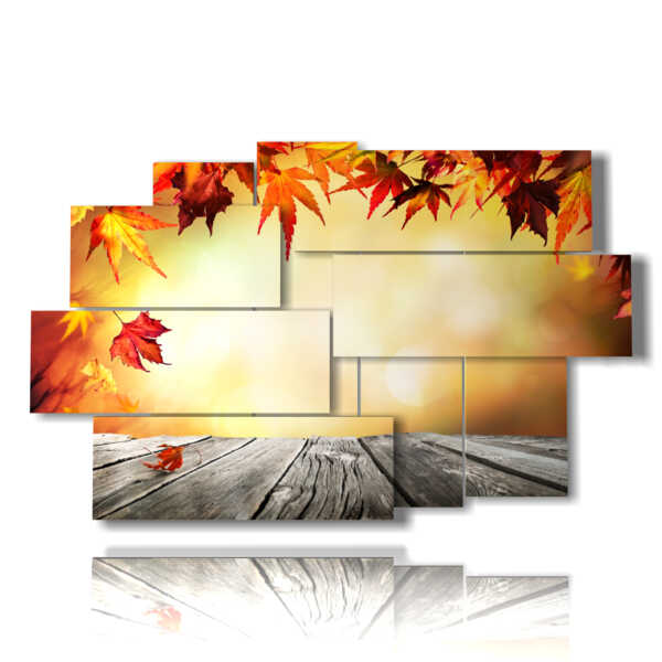 Autumn leaves frame prints and