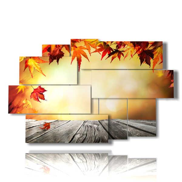 Hojas de otoño impresiones cuadro y