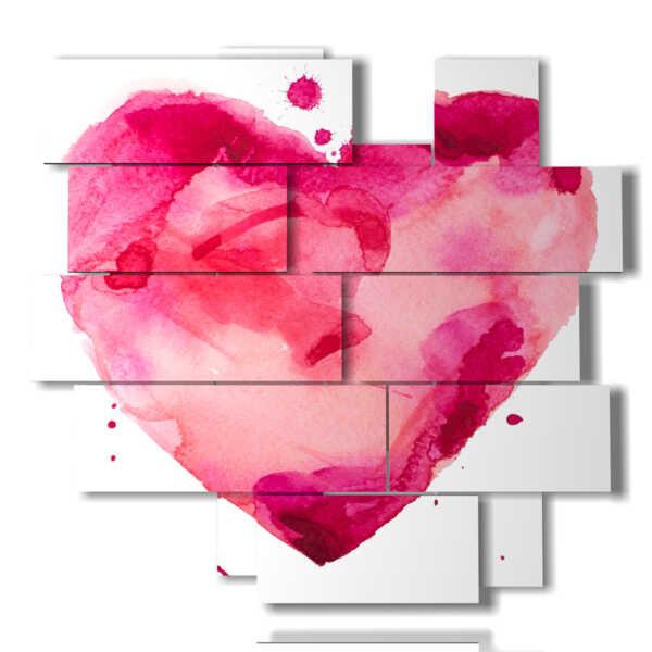 Bild mit Herz gemalt rosa