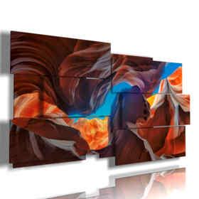 quadro dipinto moderno di paesaggio