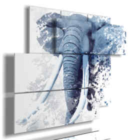 painting with stylized elephants images