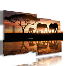 cuadro con fotos familiares elefantes