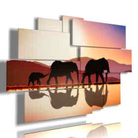 cuadro de la imagen de dibujo elefante con