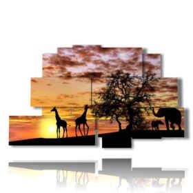 quadro elefante indiano nella savana