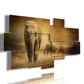cuadro con el elefante africano