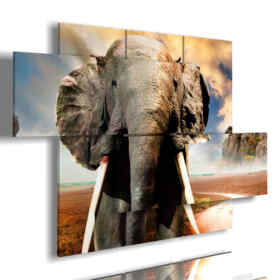 painting with pictures African elephant