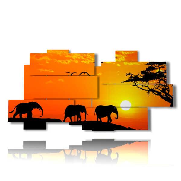 cuadro con el bebé de los elefantes de imágenes