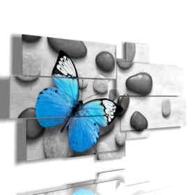cuadro mariposa en las piedras