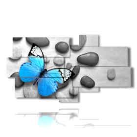 farfalla quadro nei sassi