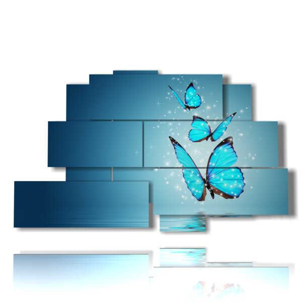 cuadros modernos con las mariposas