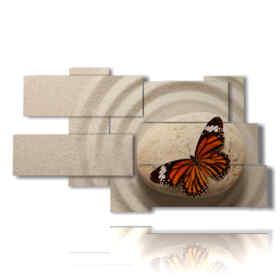quadri per farfalle zen