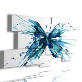 tableaux avec des papillons stylisés