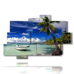 quadro barche in una isola da sogno