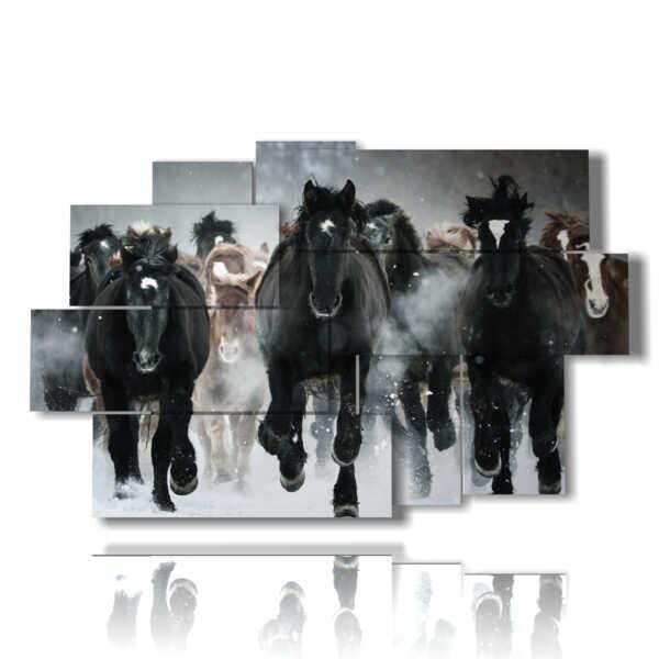 caballo galopante cuadro en una revuelta de energía