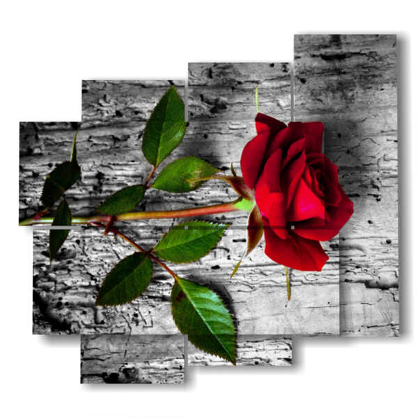 images paintings red roses