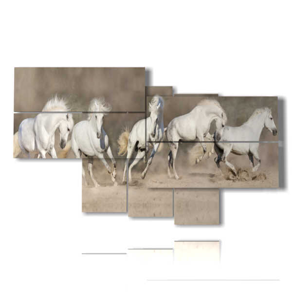 paintings on white horses
