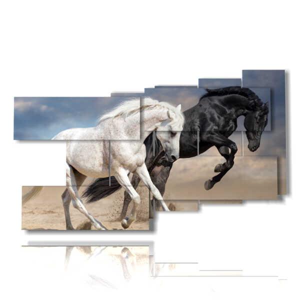 tableaux représentant des chevaux dans la course aux nouvelles aventures