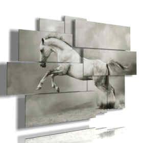 célèbre tableau avec cheval blanc en suspension