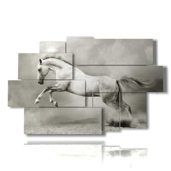famosa cuadro con el caballo blanco en suspensión