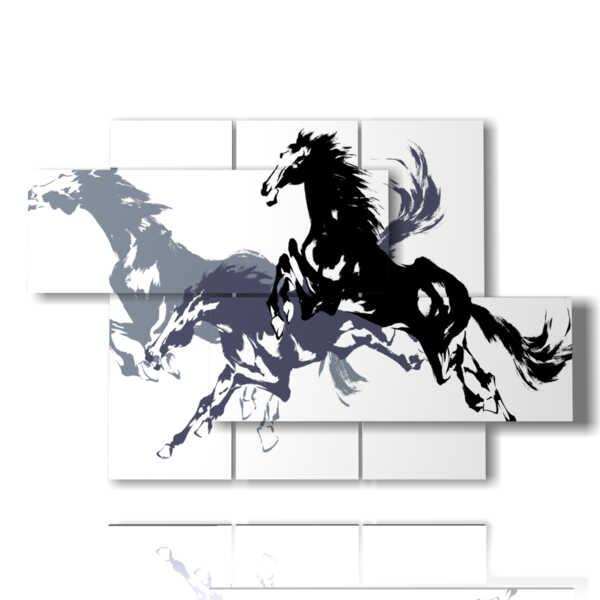 estilizadas cuadros del caballo