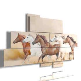 quadri cavalli nella tempesta di sabbia