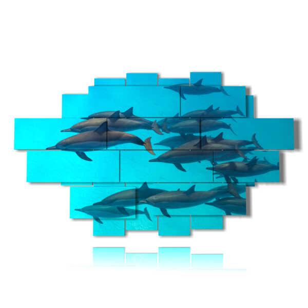 Quadro moderno - Delfini 02 - sinistra
