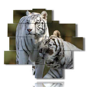 modern painting Tigers