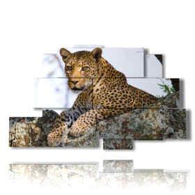 modern painting Leopard 03