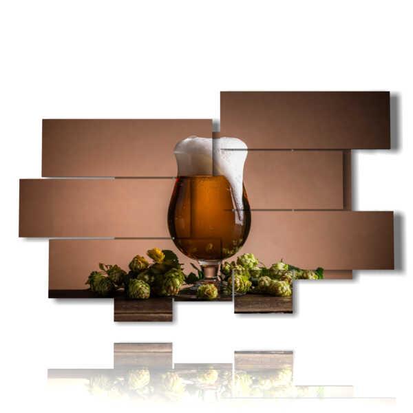 quadro birra spumeggiante