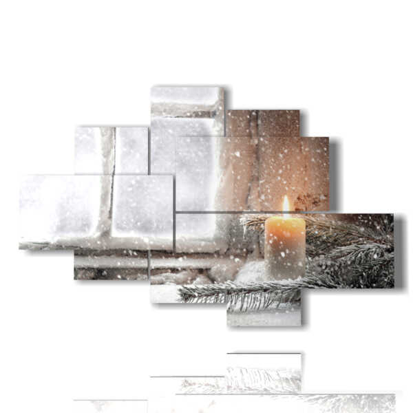 Winter-Frame mit Kerze