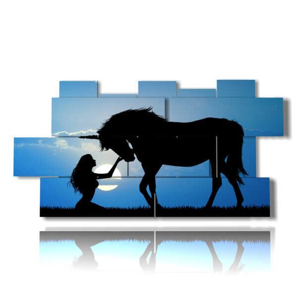 quadro con immagini fantasy cavalli