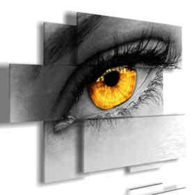 quadri donne misteriose occhio dorato