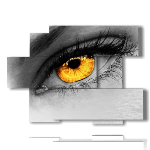 cuadros misteriosas mujeres ojo oro