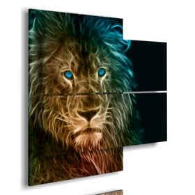 foto quadri astratti leone