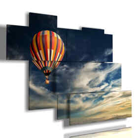 paintings solitary balloon in the sky