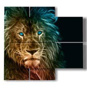 tableaux abstraites des tableaux lion