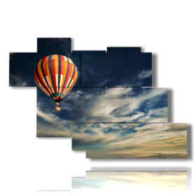quadri mongolfiera solitaria nel cielo