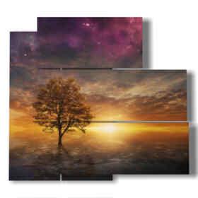tableaux avec des tableaux des paysages fantastiques