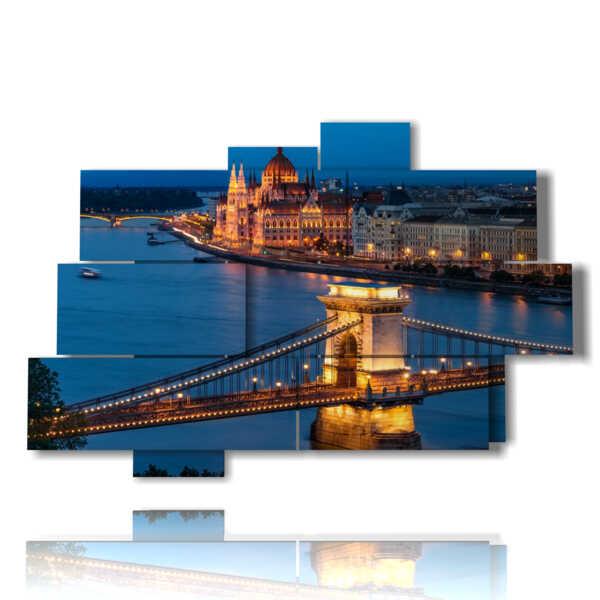 quadro con foto Budapest di notte