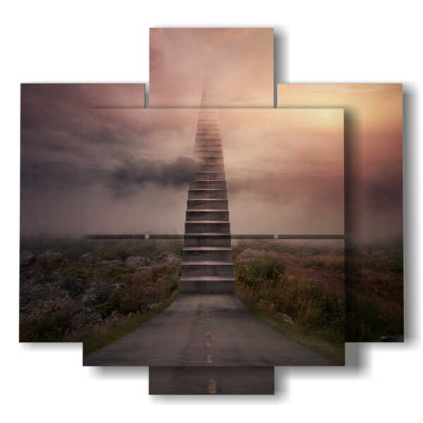mysterious stairs painting