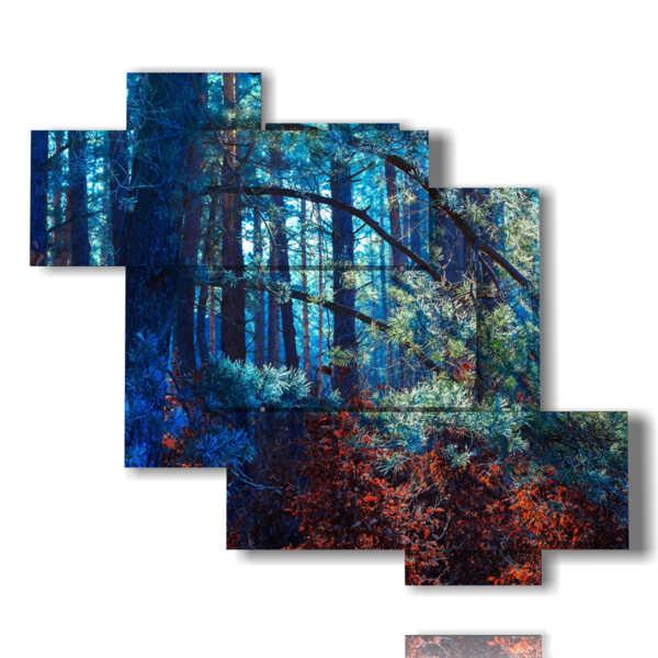 quadro di dipinti fantasy bosco