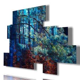 Printed picture - Flowers 01 - Multipanel and multilevel 3D. Large size