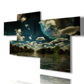 quadri moderni - Ninfea 03 - centro